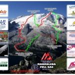 Neve abbondante alla «Marmoleda Full Gas Race» la nuova gara di sci alpinismo