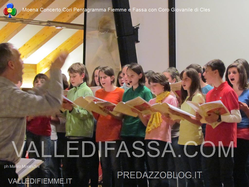 Concerto cori a Moena pentagramma 25.5.139
