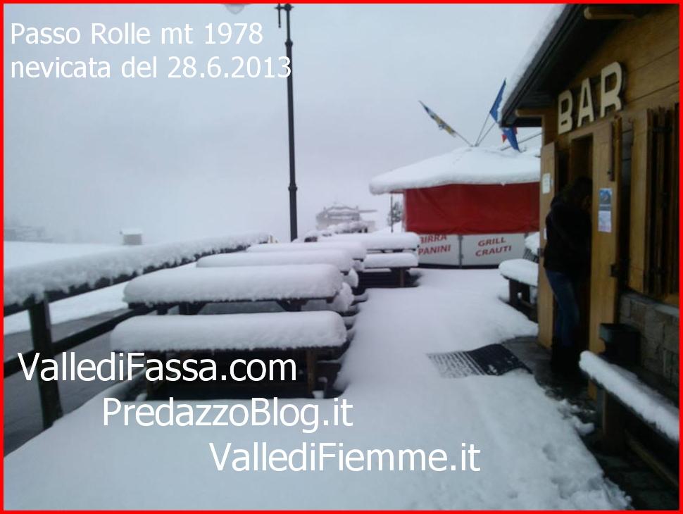 passo rolle nevicata 28.6.13