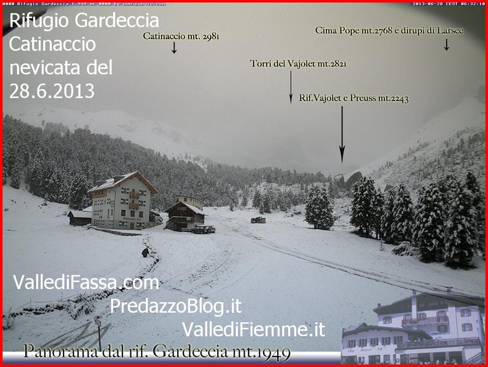 rifugio gardeccia nevicata 28.6.13