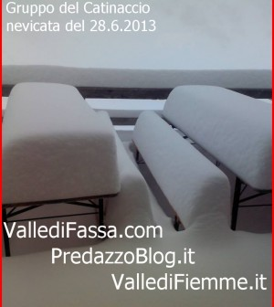 rifugio passo principe nevicata 28.6.13