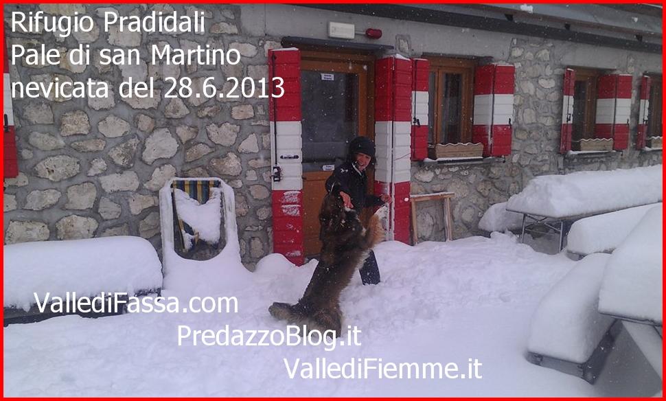 rifugio pradidali nevicata 28.6.13