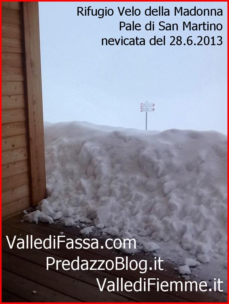 rifugio velo della madonna nevicata del 28.6.13