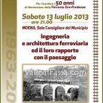 Paesaggio e architettura ferroviaria – Sabato 13 luglio a Moena