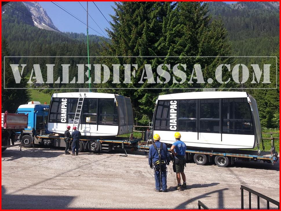 nuove cabine funivia ciampac 3 fassa