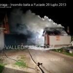 Soraga, baita in fiamme a Fuciade
