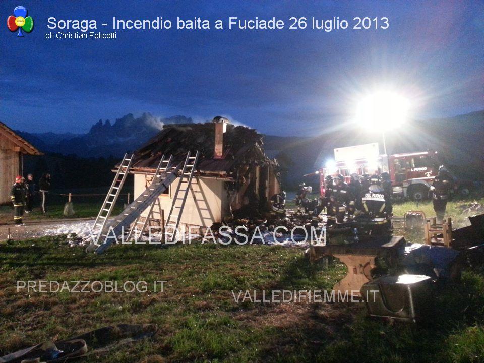 soraga incendio baita fuciade 26 luglio 2013 valle di fassa ph Christian Felicetti2