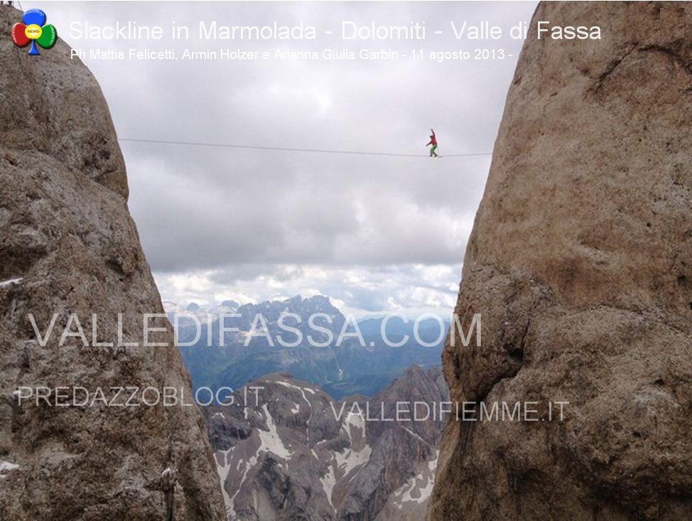 Slackline in Marmolada - Dolomiti - Valle di Fassa10