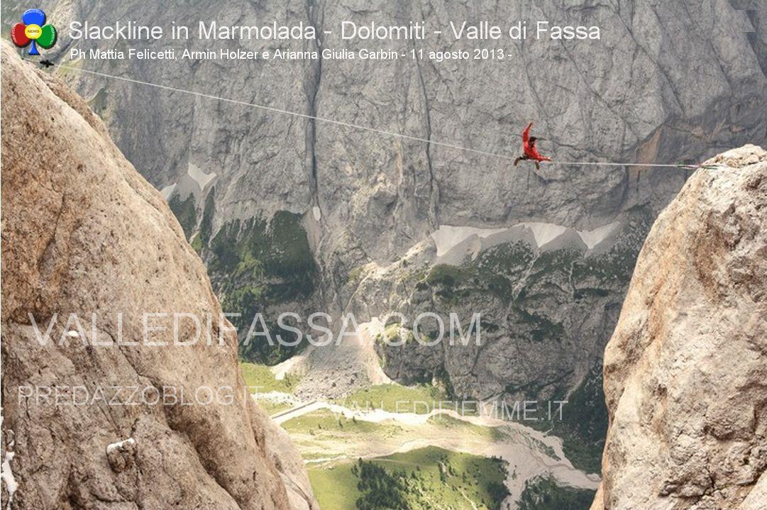 Slackline in Marmolada - Dolomiti - Valle di Fassa3