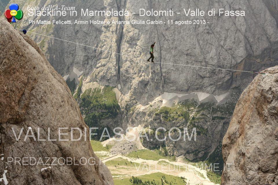 Slackline in Marmolada - Dolomiti - Valle di Fassa4