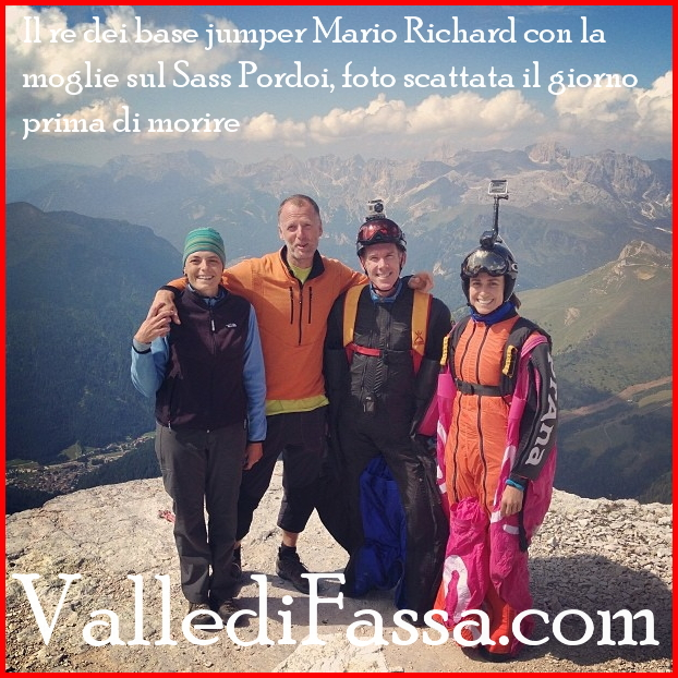 base jumper Mario Richard sass pordoi fassa