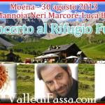 Neri Marcorè, Luca Barbarossa e Fiorella Mannoia in concerto a Fuciade