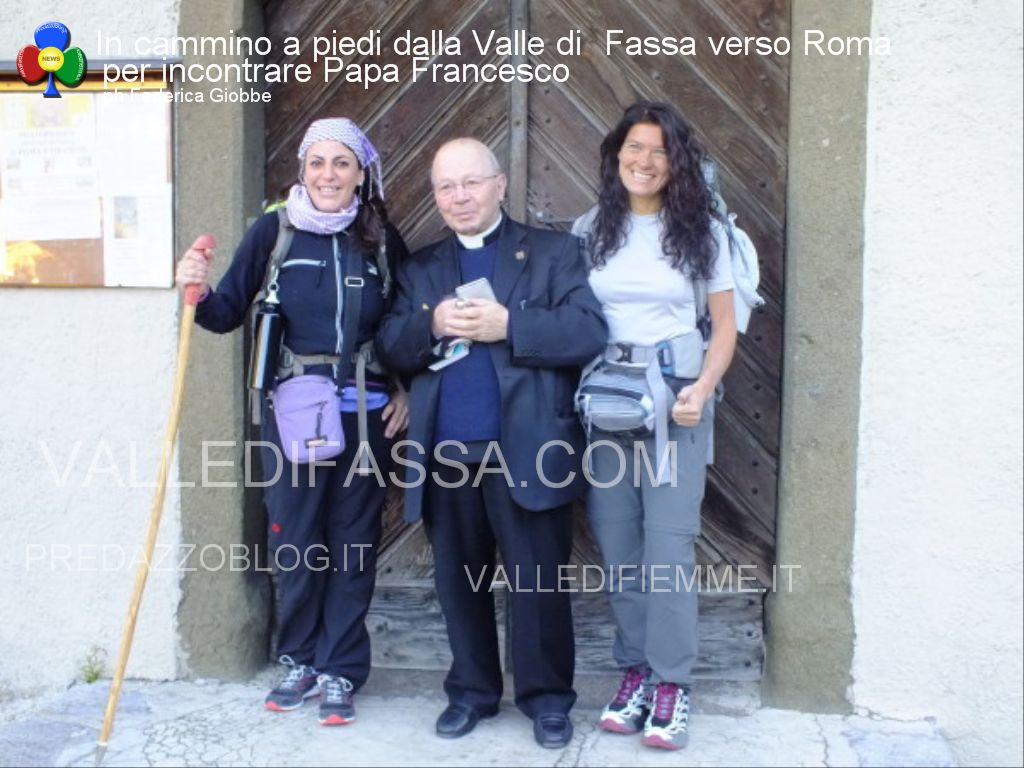 In cammino a piedi dalla Valle di Fassa verso Roma per incontrare Papa Francesco4 In cammino a piedi dalle Dolomiti di Fassa fino a Roma da Papa Francesco