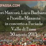 Il video dei 13.000 al concerto di Fuciade con Neri Marcorè, Luca Barbarossa e Fiorella Mannoia