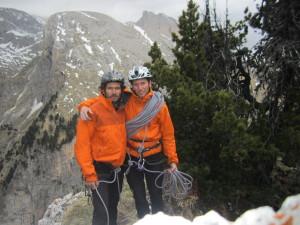 da sn Luigi Zulian uno ta i migliori Tecnici di Soccorso della valle di Fassa e Robert Cecco, una delle più preparate guide alpine di Fassa