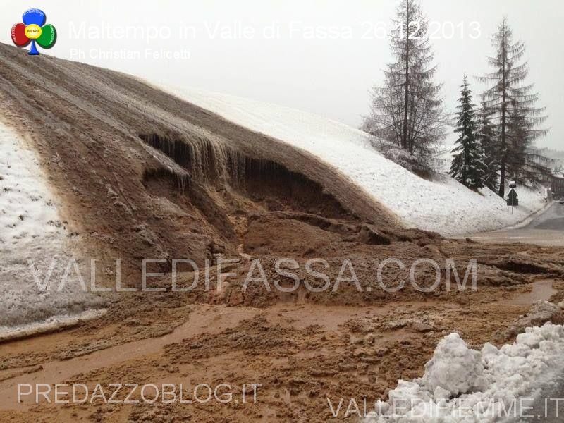 moena smottamento sulla statale 48 dolomiti 26.12.2013 valle di fassa1