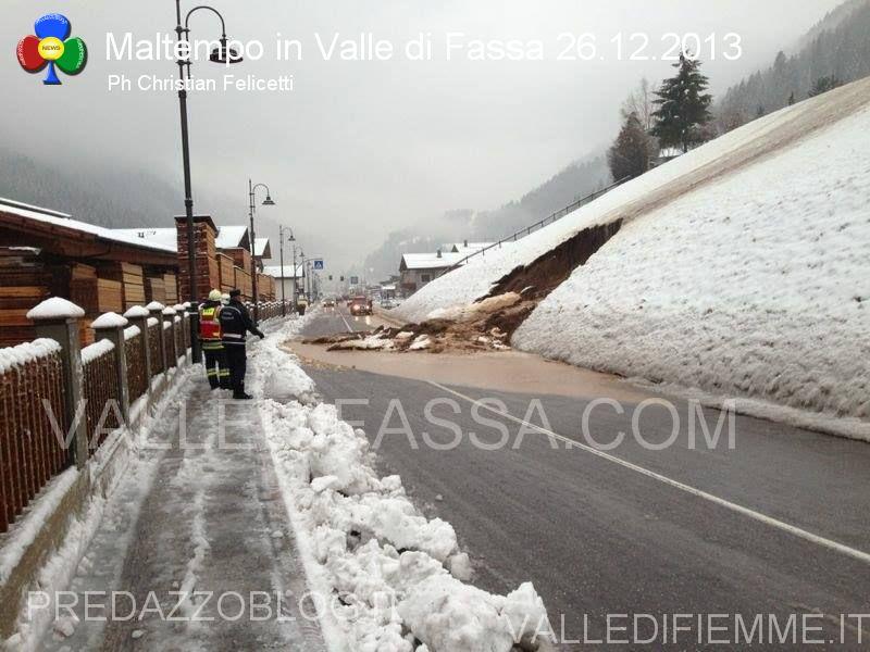 moena smottamento sulla statale 48 dolomiti 26.12.2013 valle di fassa2