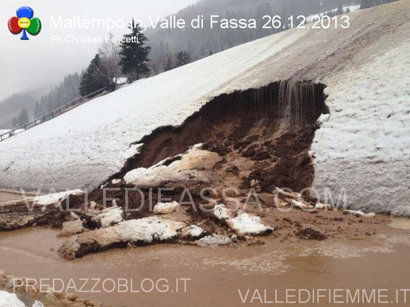 moena smottamento sulla statale 48 dolomiti 26.12.2013 valle di fassa3