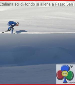 nazionale sci di fondo al san pellegrino fassa