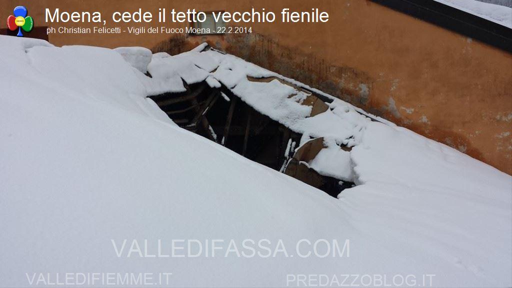 moena crollo tetto fienile per neve 22.2.2014 ph christian felicetti1
