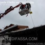 Moena, cede il tetto di un vecchio fienile