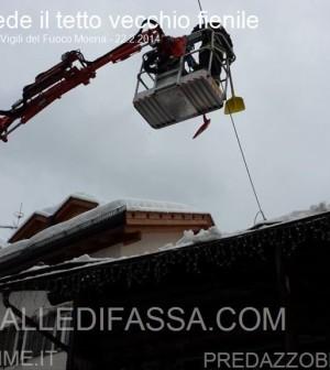 moena crollo tetto fienile per neve 22.2.2014 ph christian felicetti2