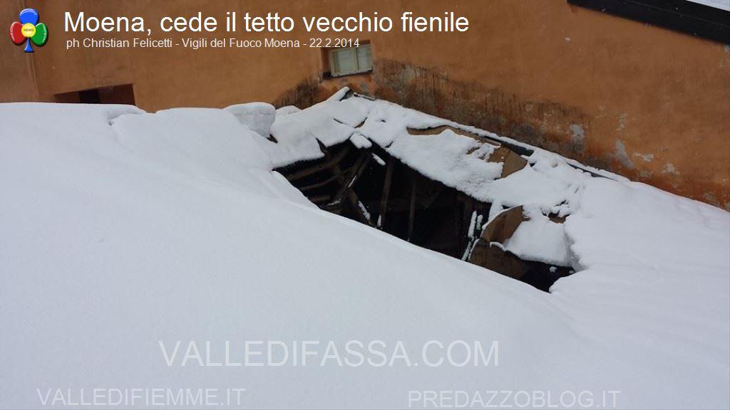 moena crollo tetto fienile per neve 22.2.2014 ph christian felicetti4