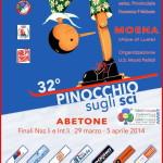 Pinocchio sugli sci all'Alpe Lusia