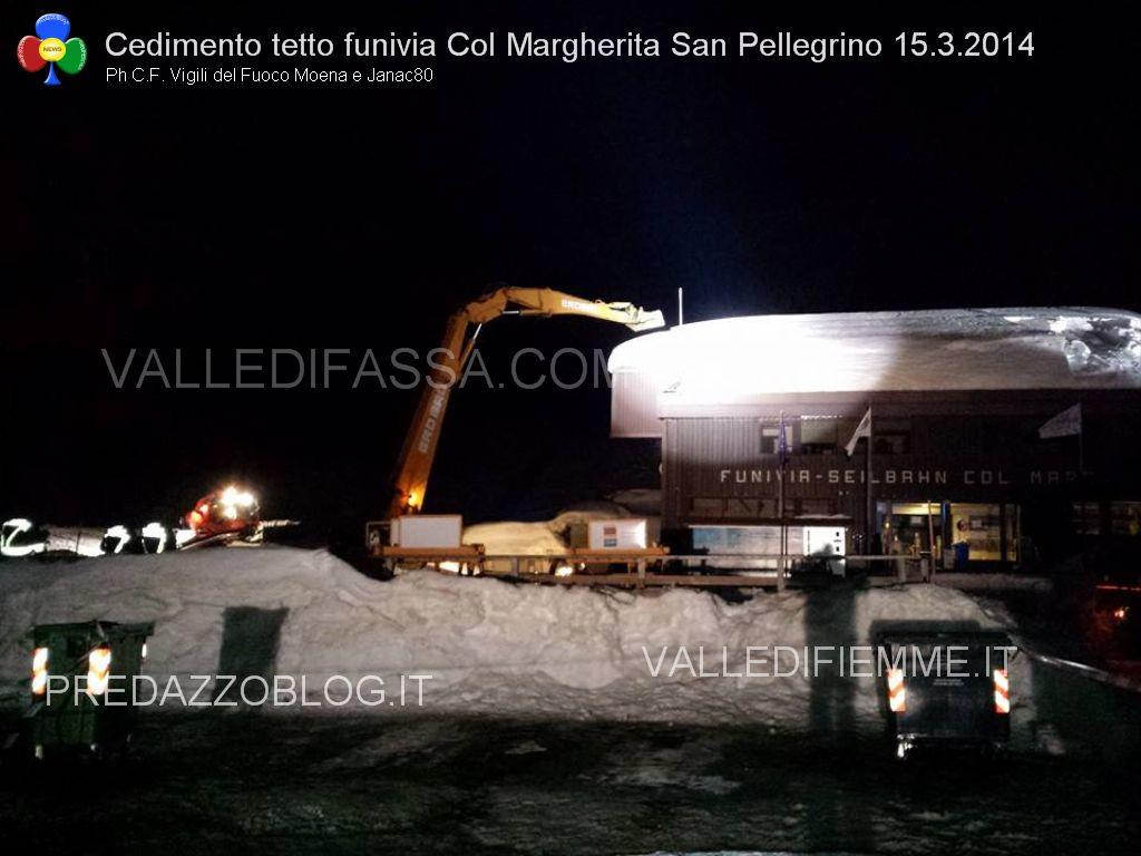 la funivia col margherita san pellegrino cedimento tetto per neve valledifassa.com2