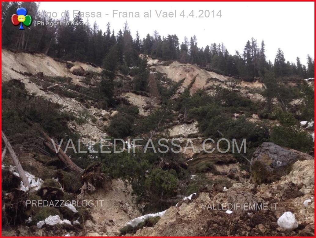 vigo di fassa frana al vael 4.4.2014 ph agostino rasom valledifassa.com