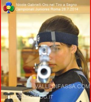 Nicole Gabrielli Oro nel Tiro a Segno ai Campionati Juniores di Roma valle di fassa12