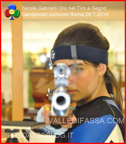 Nicole Gabrielli Oro nel Tiro a Segno ai Campionati Juniores di Roma valle di fassa12 Corso di Tiro a Segno a Predazzo