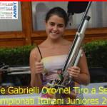 Nicole Gabrielli Oro nel Tiro a Segno ai Campionati Juniores di Roma valle di fassa13