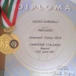 Nicole Gabrielli Oro nel Tiro a Segno ai Campionati Juniores di Roma valle di fassa4