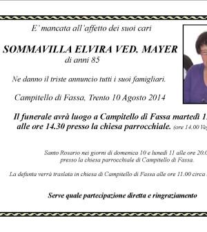 Elvira Sommavilla ved. Mayer