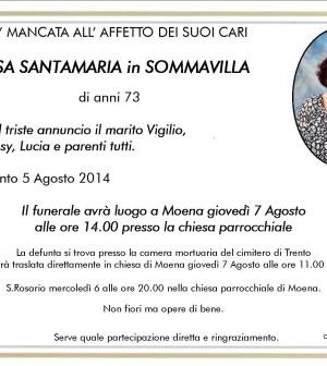 Rosa Santamaria in Sommavilla