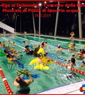 banda musicale di pozza di fassa in acqua al dolaondes di canazei
