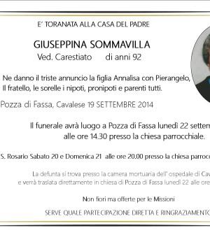 Giuseppina Sommavilla ved. Carestiato