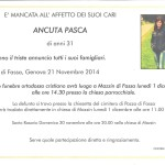 Mazzin, necrologio Ancuta Pasca