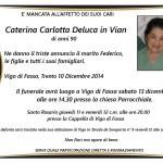 Vigo e Mazzin, necrologi Caterina Carlotta e Giuliana Canal