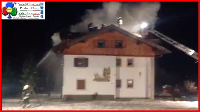 incendio pera di fassa 29 dic 2014