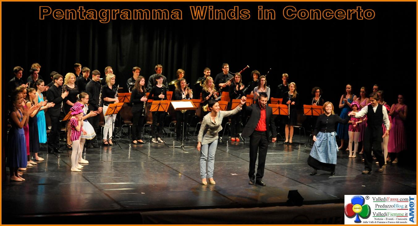 pentagramma winds in concerto moena fiemme fassa Il debutto dei Pentagramma Winds al Palafiemme