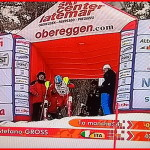 Stefano Gross sul podio della Coppa Europa di Obereggen
