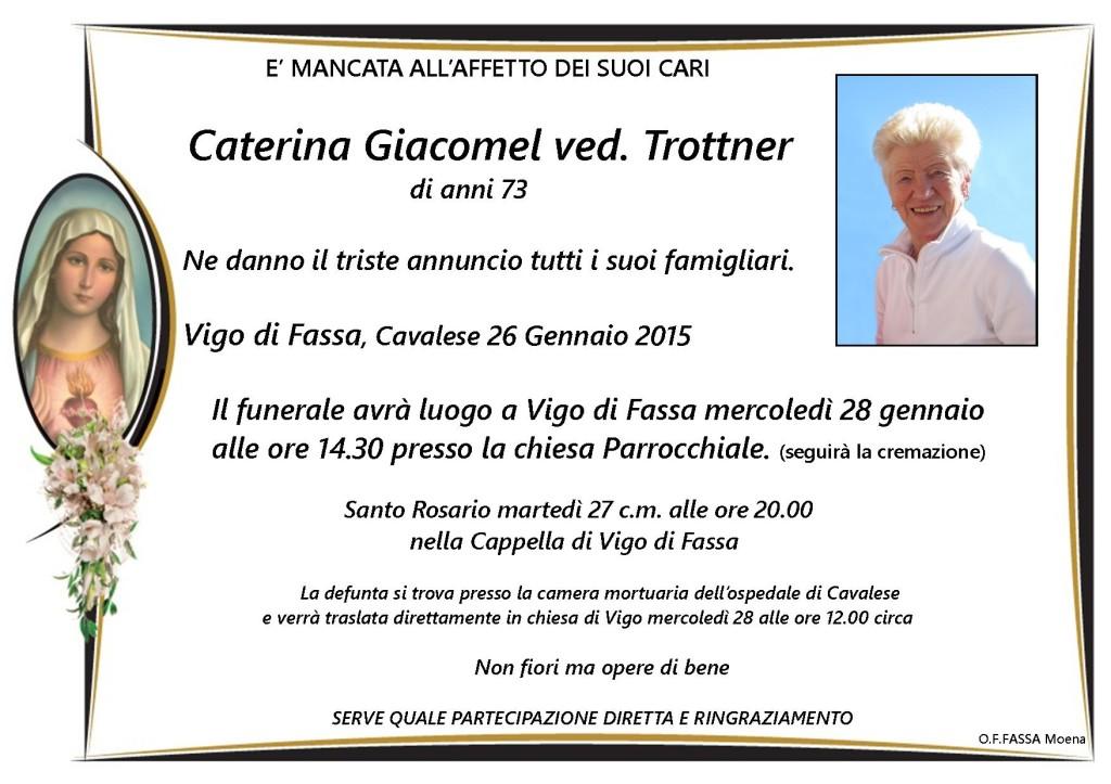 Caterina Giacomel ved. Trottner