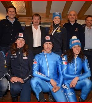 nazionale azzurra di sci in valle di fassa per i mondiali di Vail