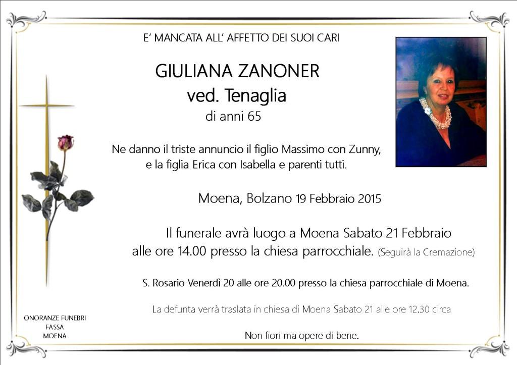 Giuliana Zanoner ved. Tenaglia