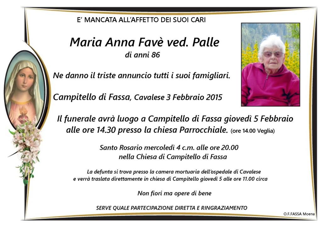 Maria Anna Favè ved. Palle