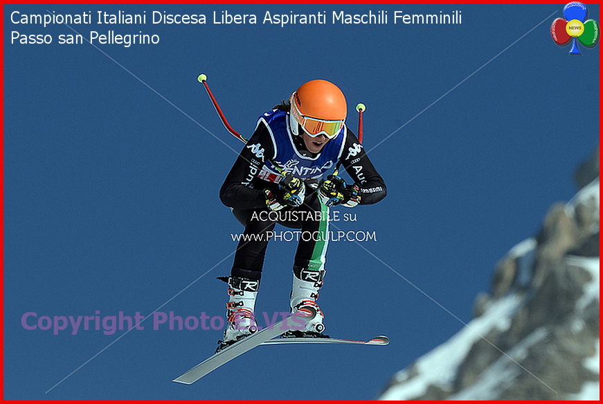 Campionati Italiani Discesa Libera Aspiranti Maschili Femminili Passo san Pellegrino