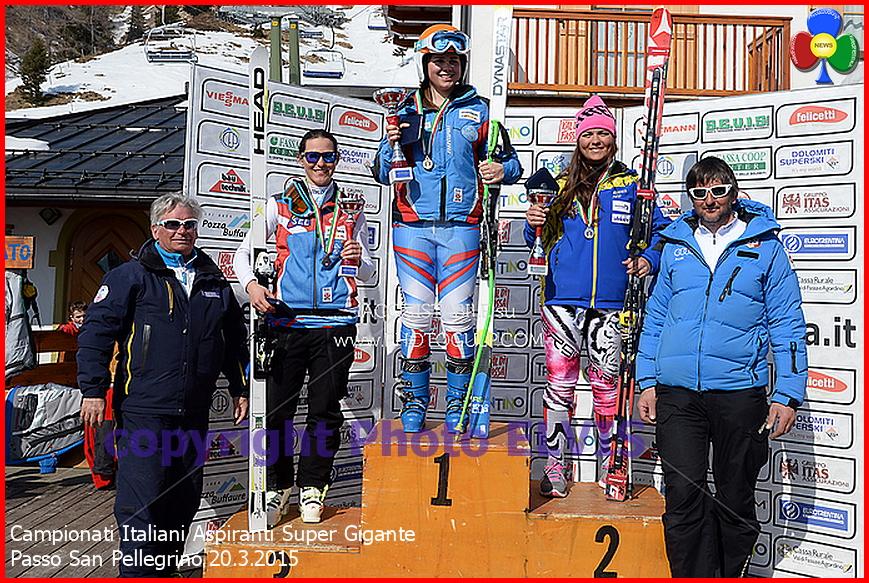 campionati italiani aspiranti super gigante podio san pellegrino 2015