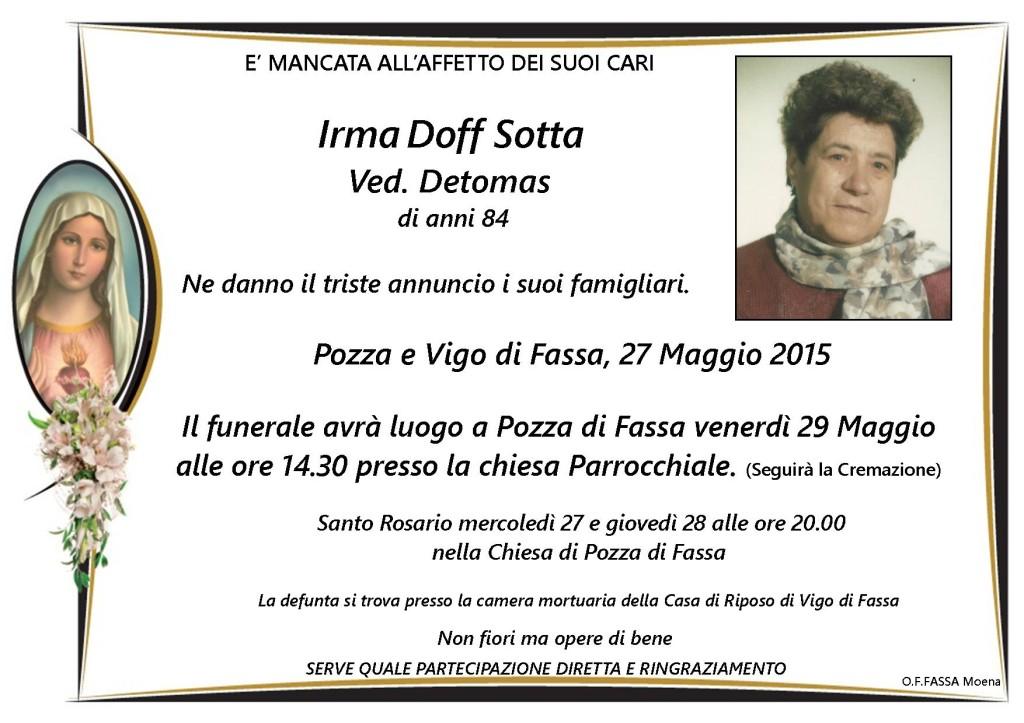 Irma Doff Sotta ved. detomas